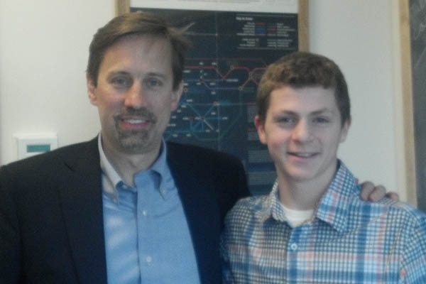 David Tuveson and Skyler Palatinick at CSHL