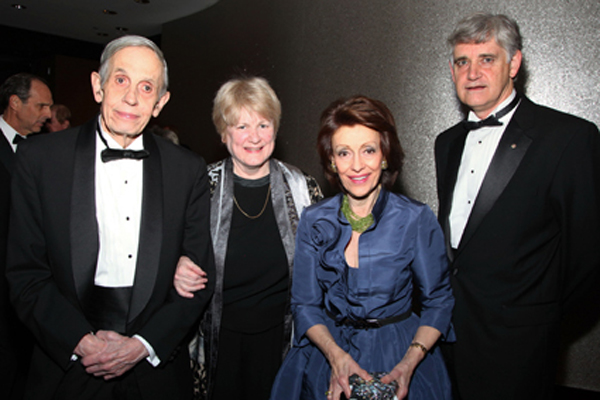 Left to right: John F. Nash , Jr., Mary-Claire King, Evelyn Lauder, and Bruce Stillman. King, Nash, and Lauder were each awarded a Double Helix Medal in 2010.