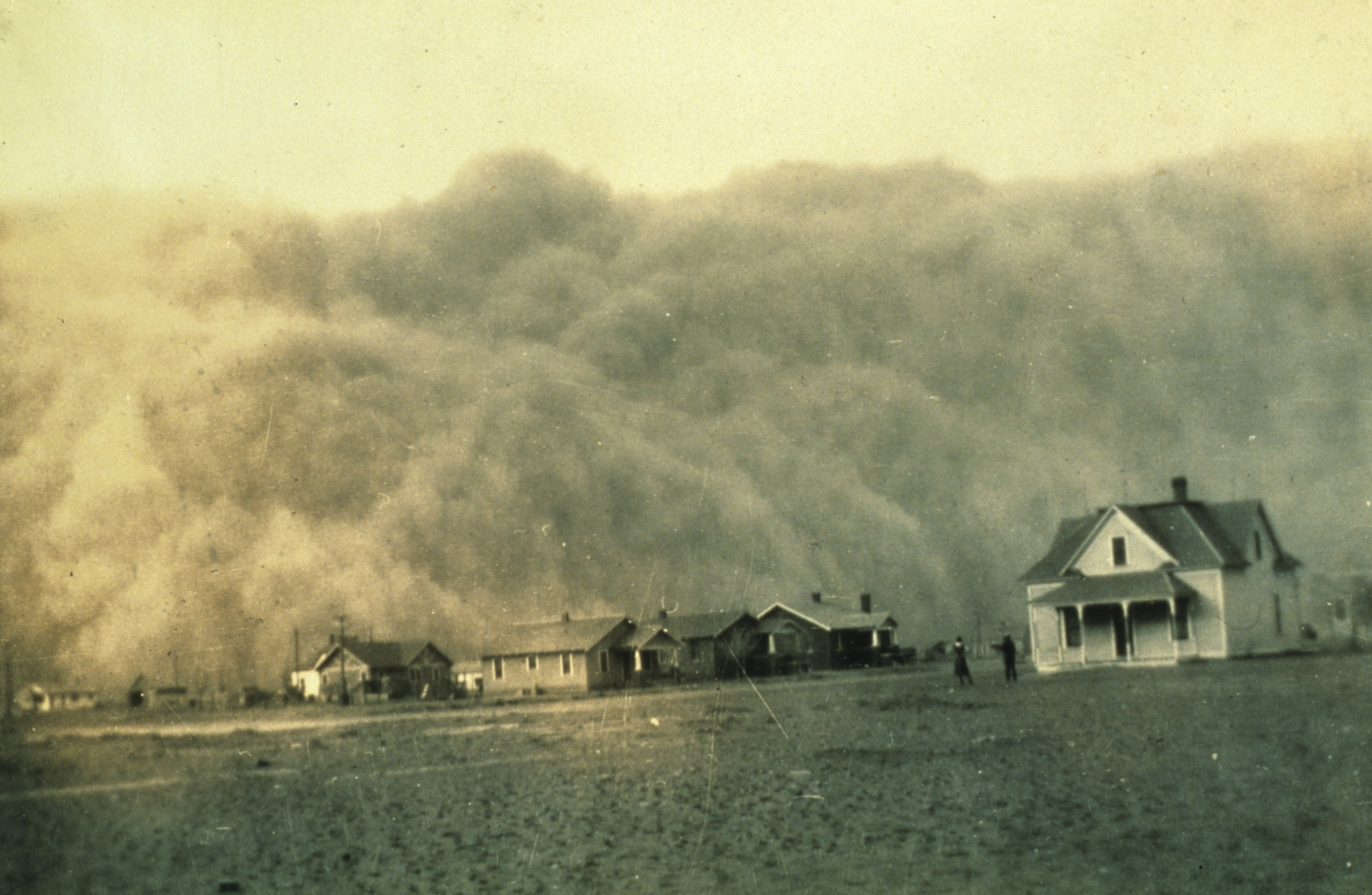 Midwest dust storm, 1935. NOAA George E. Marsh Album, the b1365, Historic C&GS Collection.