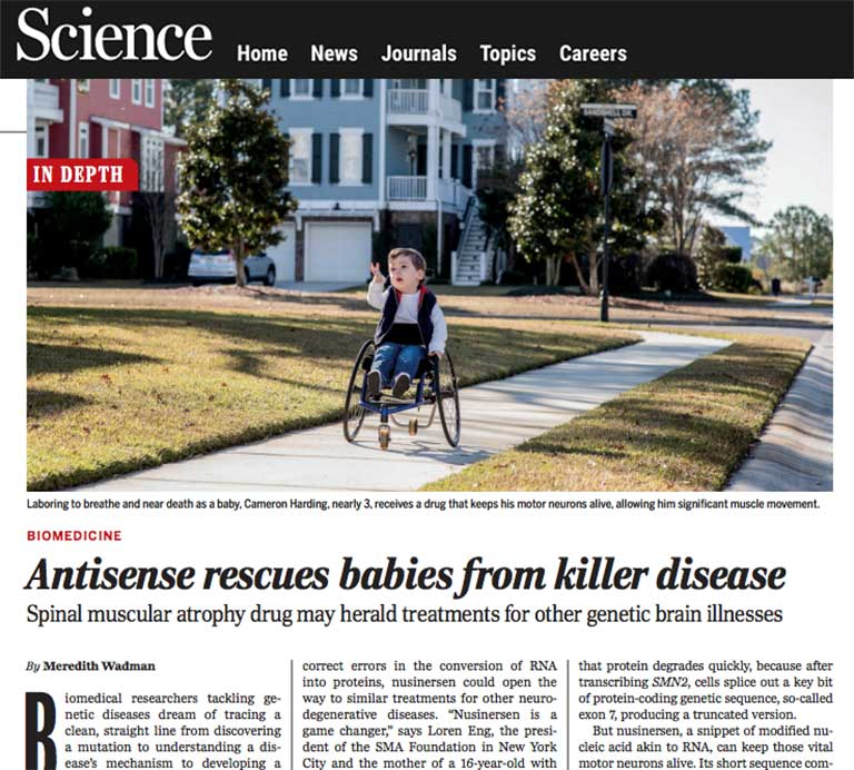 Science Magazine SMA article